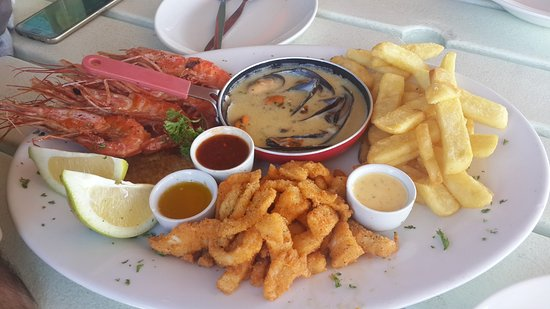 Paternoster, Republika Południowej Afryki: seafood platter