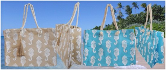 Best Of Barbados Gift Large Beach Bags With Inner Zipper Pockets