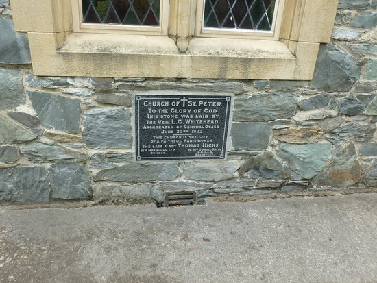 Queenstown, Nieuw-Zeeland: Foundation stone