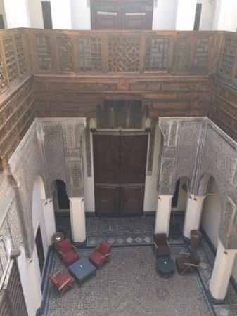 Hotel & Spa Riad Dar Bensouda: Vue d'en haut du patio