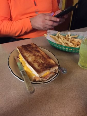 Rockland, MI: Grilled ham and cheese