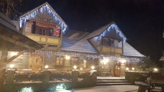Ustron, Pologne : Karczma zimą