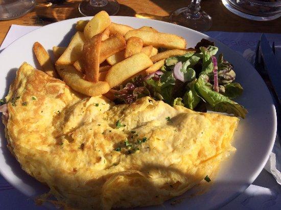 Montchavin, Francja: Omelette et plat du jour : 30 euros