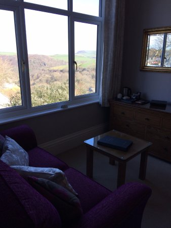 Boscastle, UK: The view from room one Charlotte