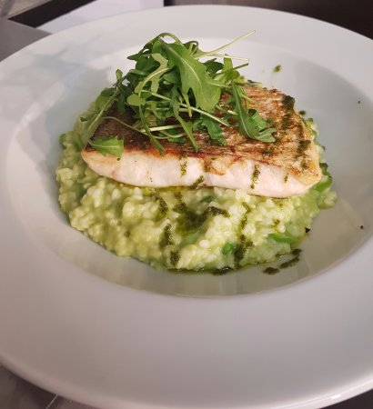 Menai Bridge, UK: Hake rissoto