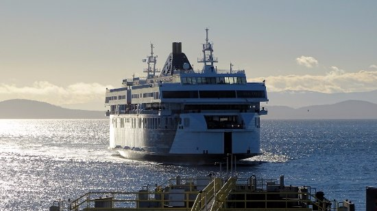 Ferry arriving at Tsawwassen Terminal