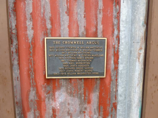 Cromwell, Nowa Zelandia: The Daily Argus