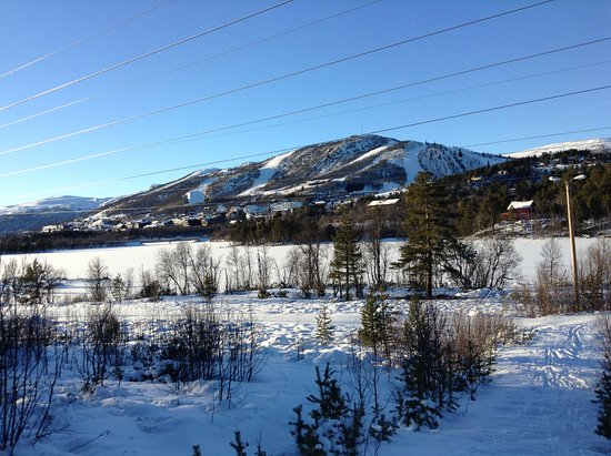 Geilo, Norvège : this is the frozen lake