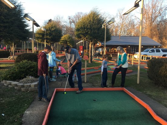 Putt-Putt Fun Center: We all had a great time & the dads won!