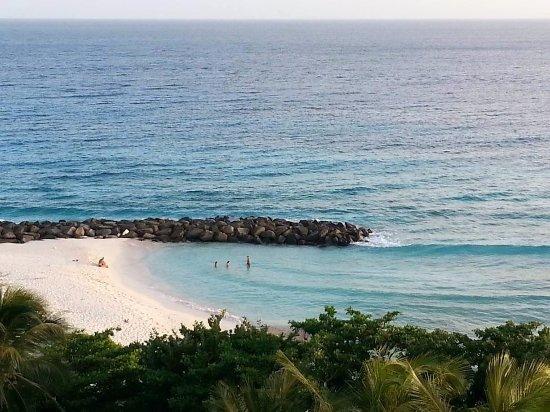 Saint Michael Parish, Barbados: One of the Balcony views from Corner suite at Hilton Barbados