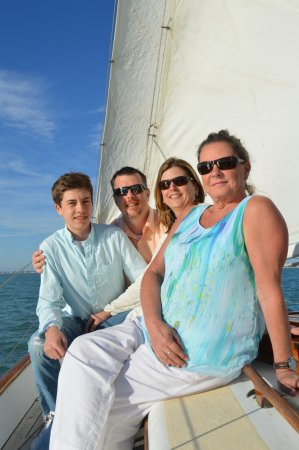 Catherine's Florida Charters: The Shamer family having a blast on The Catherine (photo credit: 1st Mate Catherine!)