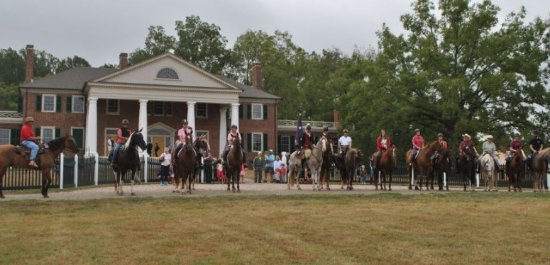 Gordonsville, VA: Trail riding at the historic Montpelier.
