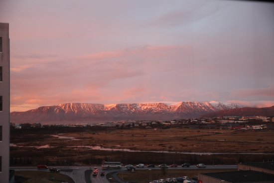 Kopavogur, Iceland: Room 306 view towards the mountains