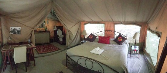Nairobi Tented C& Tent with king size bed & Tent with king size bed - Picture of Nairobi Tented Camp Nairobi ...