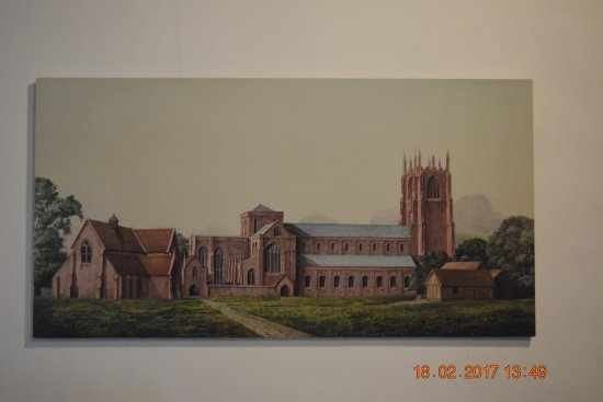 Barrow-in-Furness, UK: Artists impression of the abbey