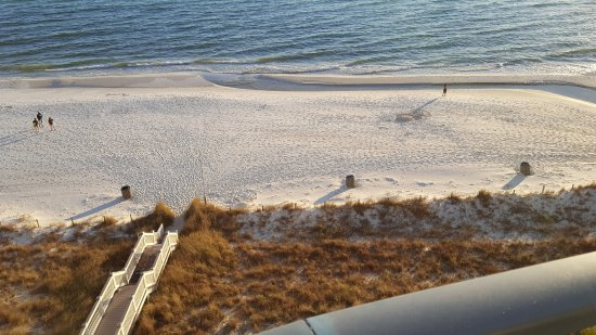 Sterling Breeze: View of the beach from the balcony