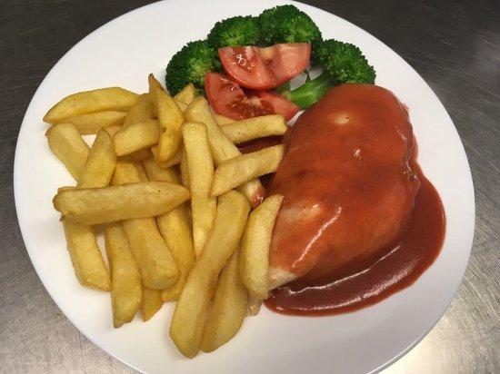 Livingston, UK: Barbecue sauce chicken breast