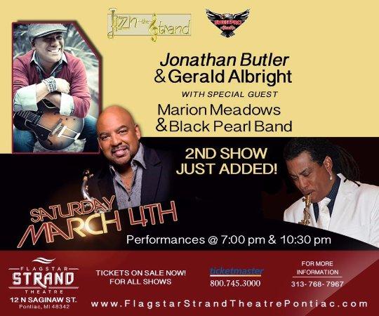 Pontiac, MI: Gerald Albright & Jonathan Butler live, March 4