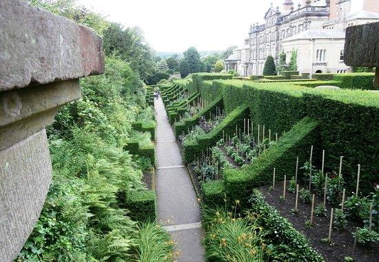 Biddulph, UK: Looking towards the enterance with planting taken place.