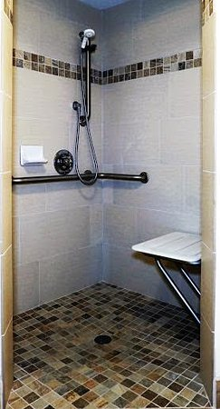 Econo Lodge - Mayo Clinic Area: Walk In Shower on Select Rooms