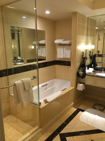 Separate bathtub, and Stand-up shower - Picture of The Venetian Las ...