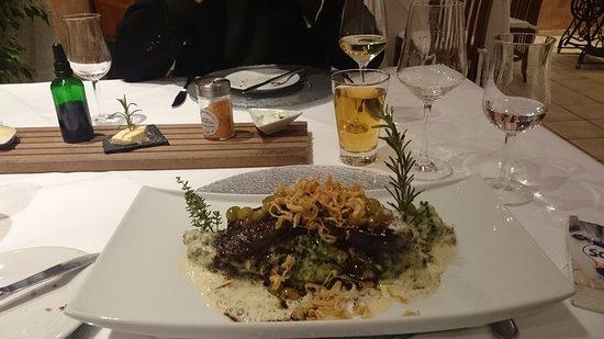 Wintrich, Tyskland: Kalbsleber auf Kartoffelstampf