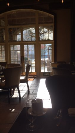 Greensboro, GA: view from inside breakfast cafe