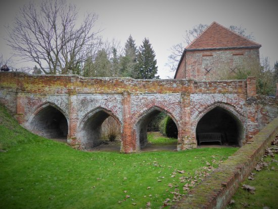Castle Hedingham, UK : bridge to the keep