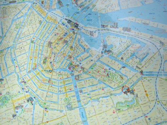 map of citycanals Picture of Amsterdam Canal Cruises Amsterdam