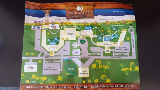 Doubletree Resort By Hilton Myrtle Beach Oceanfront Map Of The Property Yes You