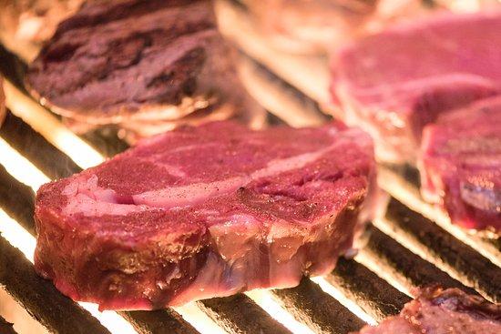 Caesar's Steak House and Lounge : Charbroiled Ribeye Steaks