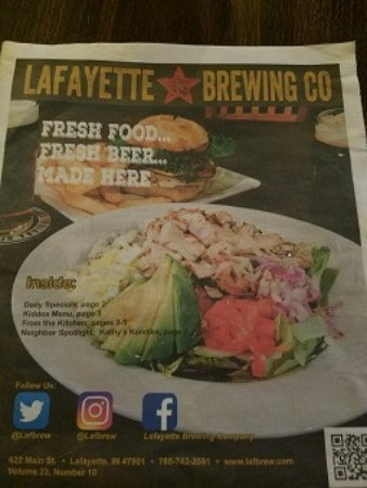 Lafayette Brewing Co. menu & story