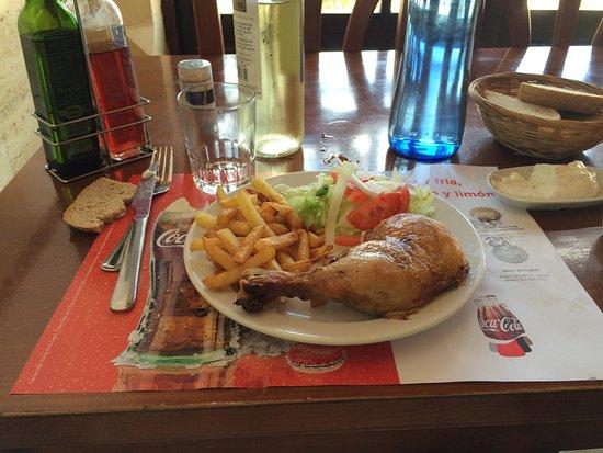 Algaida, Espagne : Main course: Chicken