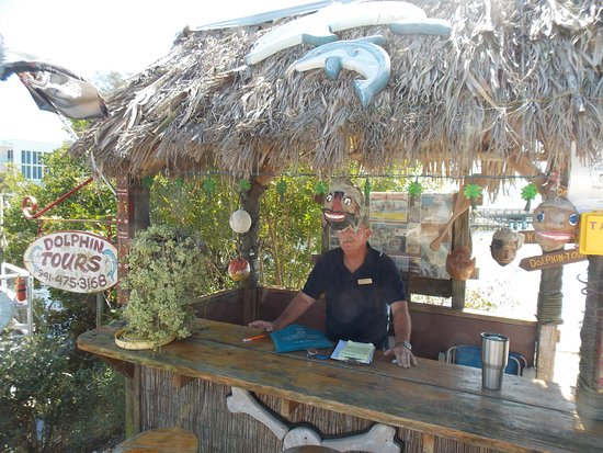"Lemon Bay Tours: Captain Bruce in his ""office""."