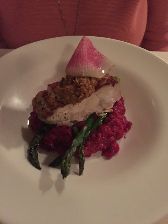 Winter Garden, FL: Fish with Beet Risotto