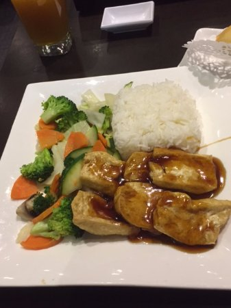 Oshawa, Καναδάς: Tofu Teriyaki with rice & veggies
