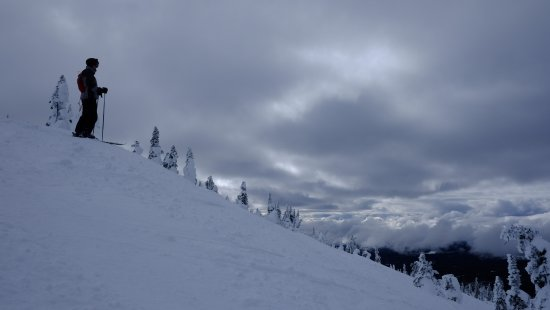 Big White, Canada: Near the peak at the top of the Gem Lake Express