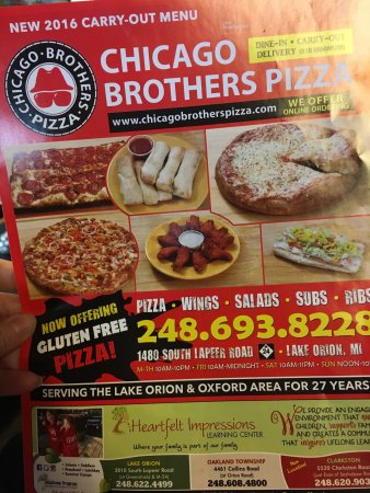 Lake Orion, Μίσιγκαν: Chicago Brothers Pizza & Deli