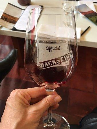 Reserve Wine Tours - Private Tours : Sampling Cab at Cliff Lede's private tasting room
