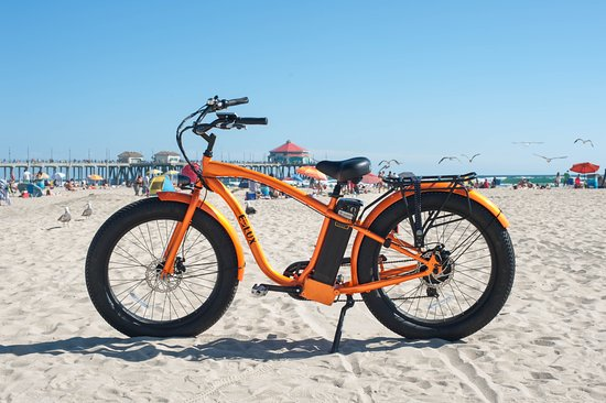 E Lux Electric Bikes Tahoe Fat Tire Beach Cruiser