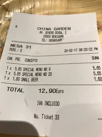 China Garden: Had a fantastic meal tonight can't fault good service or the price .