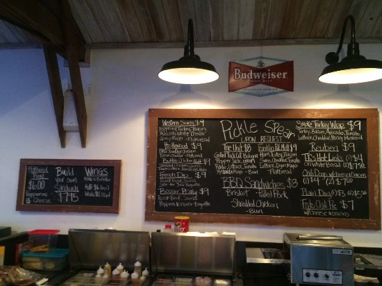 Norman, OK: Chalk board menu
