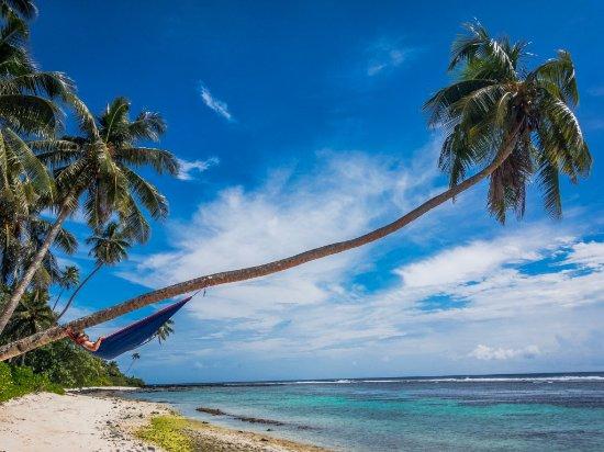 Upolu, Samoa: Beach next to Matareva resort