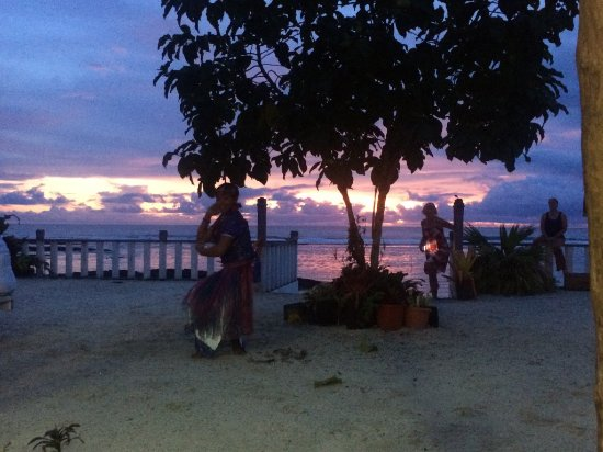 Upolu, Samoa: Saturday night Samoan dance and sunset.