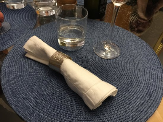 The Green House B&B: Each napkin ring has a personal story behind it!