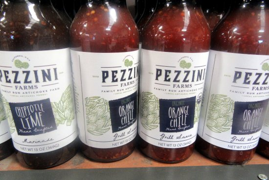 Castroville, Califórnia: Peizzini Orage Grill Sauce, Pezzini Farms, Watsonville, Ca