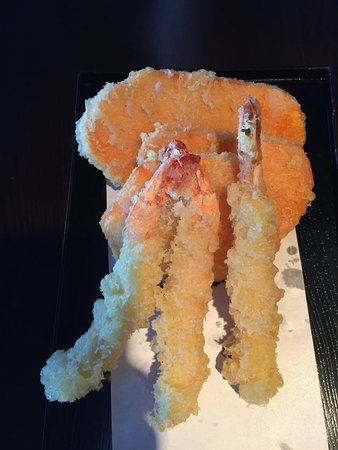 Langford, Canada: Prawn and Yam Tempura
