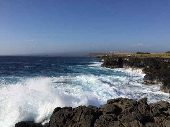Naalehu, HI: Views up the coast from South Point are spectacular!