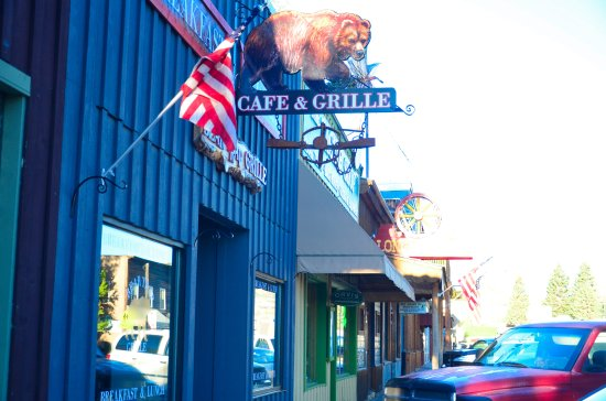 Ennis, MT: Outside of the restaurant.