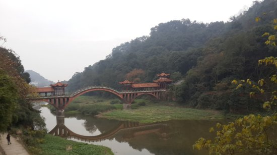 Leshan, China: The view from the way out of Buddha